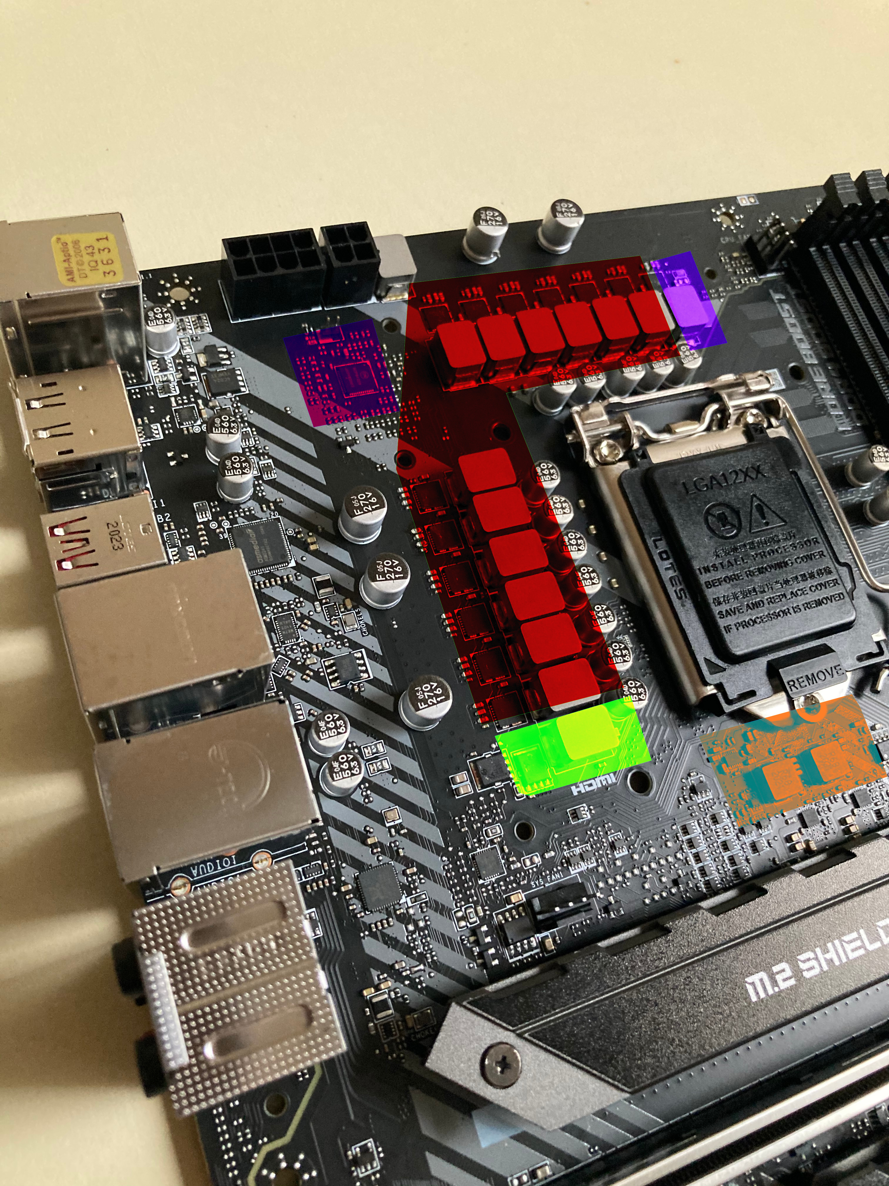 vrm-z490-tomahawk-msi-analysis-test-pcb review